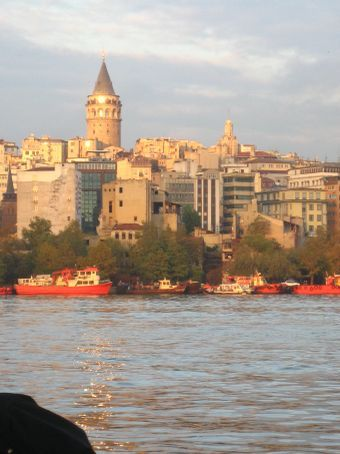 Looking to Galata Tower across the Golden Horn.