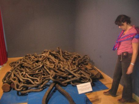 Chains used to block the Golden Horn to ships