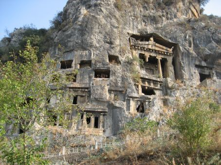 Burial caves at Fethiye