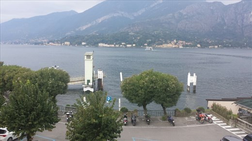 The view from our apartment in Bellagio