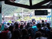 Back in Aguas Calientes, stranded travelers swarmed the gates to the railway for three to seven days waiting to be evacuated via helicopter.: by cole, Views[141]
