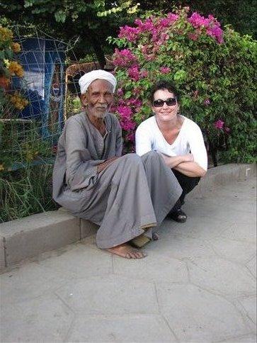 Me and my new friend in Kom Ombu