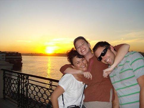Me, Shona, and Brendan in Luxor