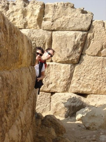 Me and Brendan at the Pyramids in Giza