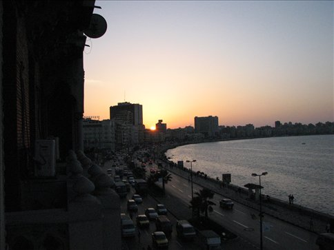View from our hotel balcony, Alexandria