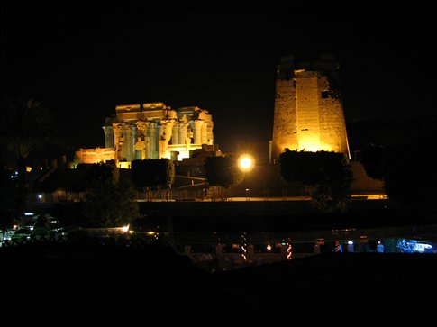 Kom Ombu temple at night
