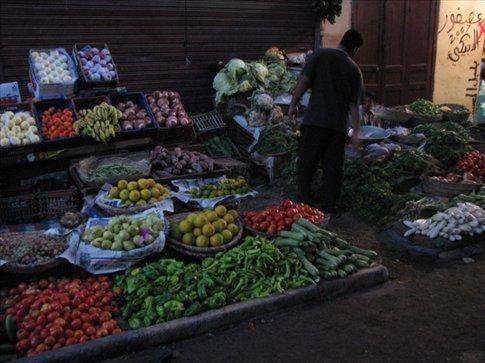 The locals' market in Luxor