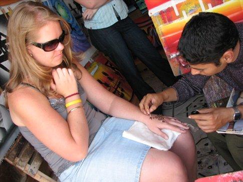 Krystal getting a matching tattoo