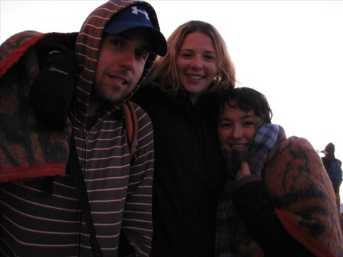 Brendan, Shona, and me on Sinai