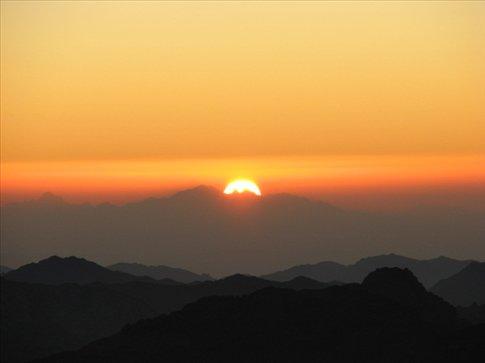 Sunrise on Mt Sinai