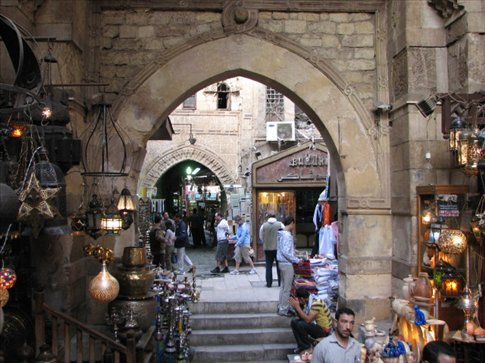 The bazaar of Khan el Khalili, Cairo