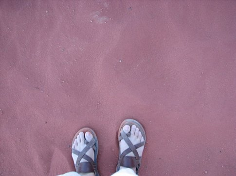 The red, red sand of Wadi Rum