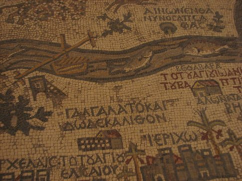 Floor mosaics in Madaba
