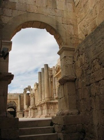 Views of the ancient Roman city of Jerash