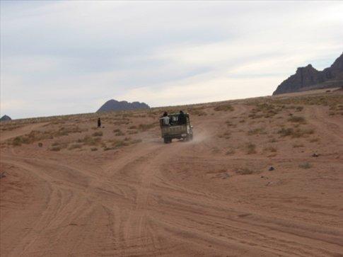 On the jeep safari in Wadi Rum