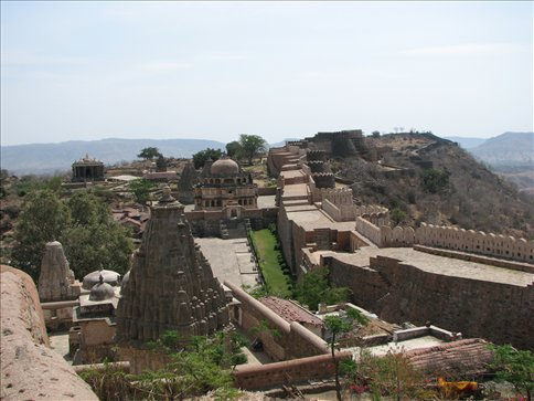 View of Kumbalghar Fort from above