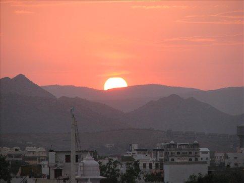 Udaipur at sunset