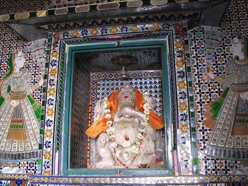 Ganesha shrine in City Palace, Udaipur