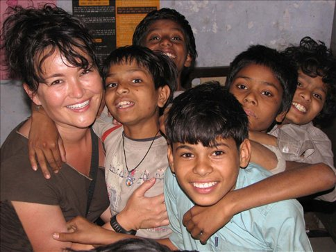 Volunteering in India with Girraj, Jitaen, Raul, and Vinod, and Ramesh