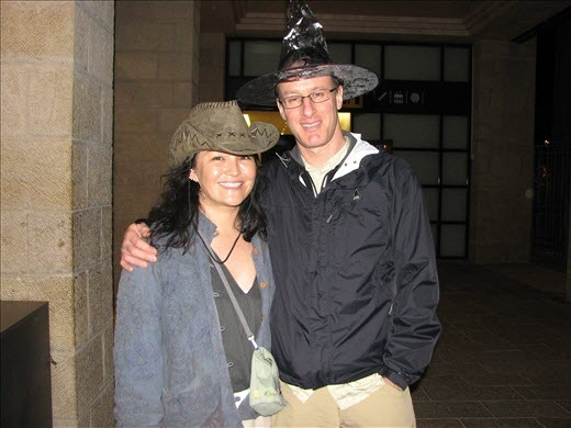 David and I in our Purim hats
