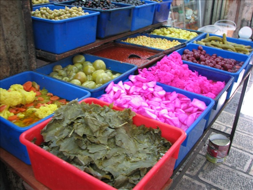 In the Arab Souk..get a load of the neon broccoli!