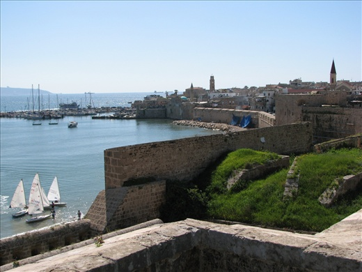Atop the fortress walls