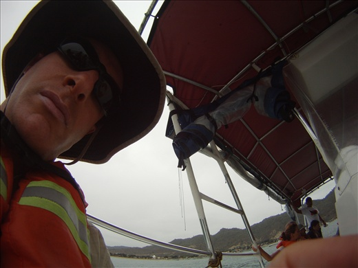 David on the boat