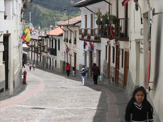 La Ronda street in Old Town Quito