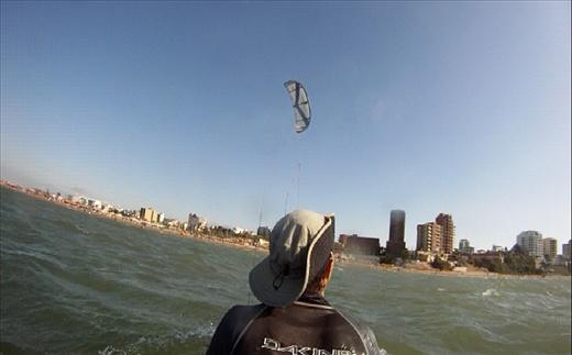 bodydragging behind the kite