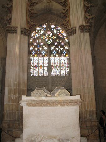 Tomb of King Joao and his wife in Batalha, Portugal