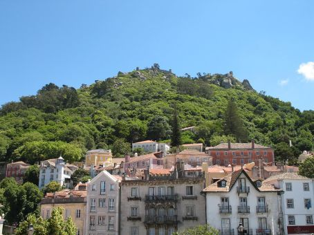 Sintra, Portugal - along the top is a Moorish hilltop castle
