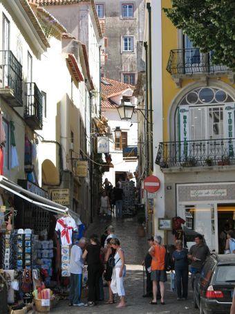 Bustling Sintra center
