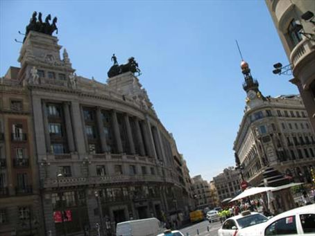 The Plaza de Espana by roadway