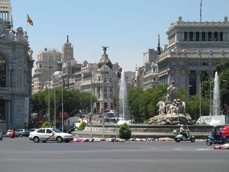 The roundabout outside the Palace of Communications