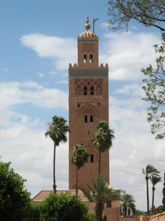 Kasbah mosque minaret, b. 1180 (Marrakesh)