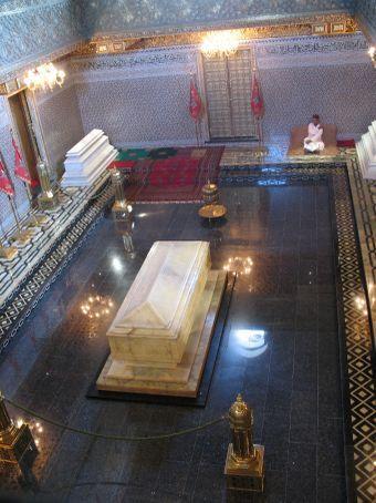 Inside Mohammed V's Mausoleum (Rabat)