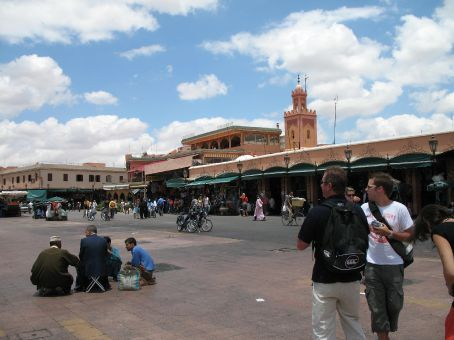 Souks in the Marrakesh marketplace