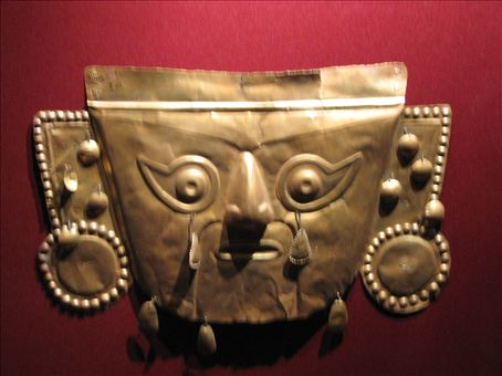 Incan burial mask (Lima)