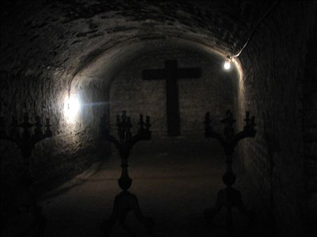 Place of worship in the catacombs (Lima)