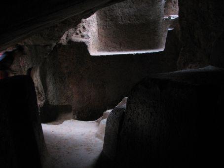 Inside Qenko - ritual sacrifices were done in here (Cuzco)