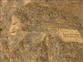 Closeup of Inca face and storage building (Ollantaytambo): by colleen_finn, Views[214]