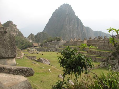 Machu Picchu with Wayna Picchu in the background
