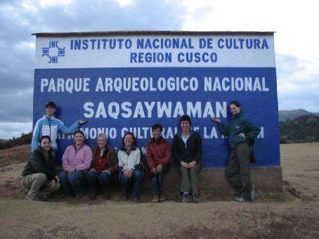 Sexy women at Sacsayhuaman