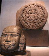 Aztec calendar, Museo Mex. City: by connieandjohn, Views[259]