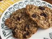 Grandma's Oatmeal Raisin Cookies Close Up: by cookingwithvinyl, Views[115]