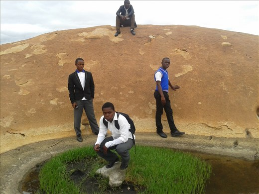 On the highest mountain in badplaas with my boy touring badplaas on our second week during long trip before matric dance