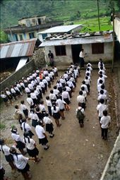 Students at the Bright Future school line up for uniform inspections. : by coyahearn, Views[113]