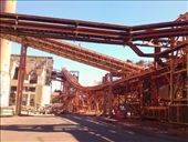 Alumina refinary. Conveyor belts and tanks, a lot happening. Great feat of mans ability to construct.: by cpenny, Views[178]