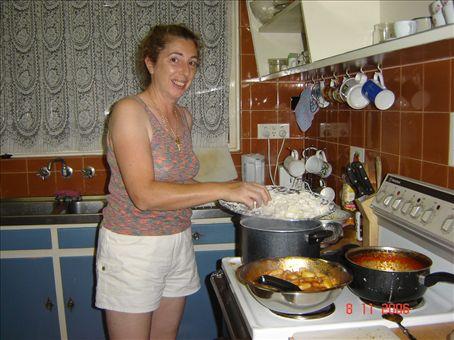 Gnocchi melkein valmista. Nam!!!