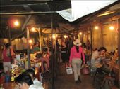 An alley full of food vendors.  The night market, Luang Prabang, Laos: by crikeyitsmikey, Views[112]